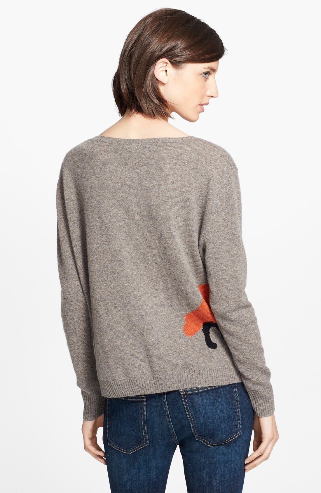 Alternate Image 2  - autumn cashmere Fox Intarsia Cashmere Sweater (Online Only)