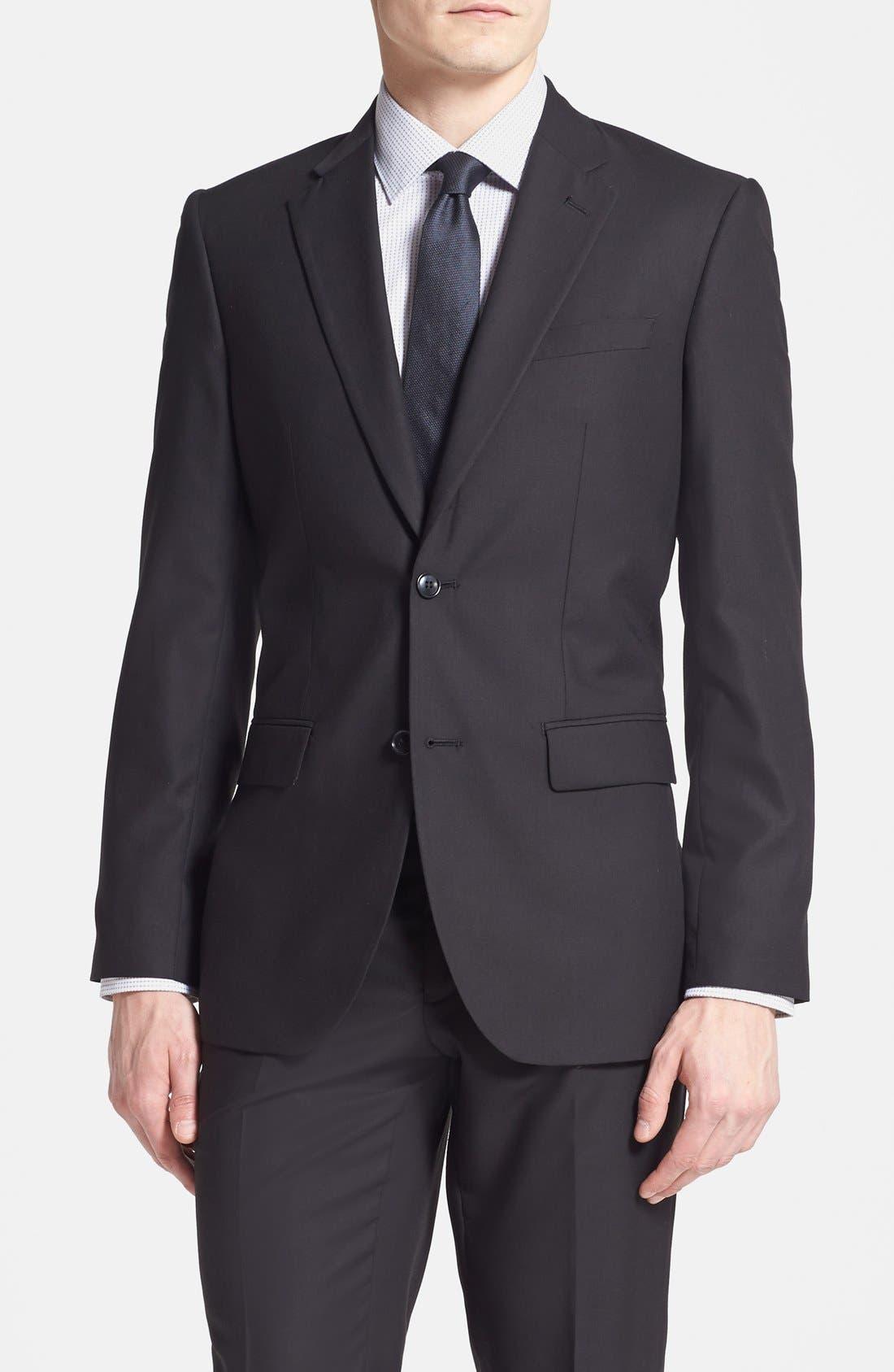 Alternate Image 3  - Rockin' Sartorial Trim Fit Wrinkle Resistant Travel Suit