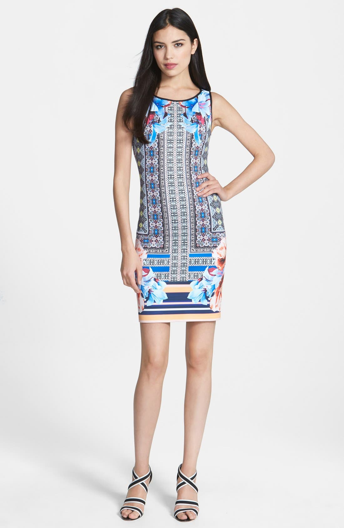 Main Image - Clover Canyon 'Byzantine Scarf' Print Neoprene Sheath Dress