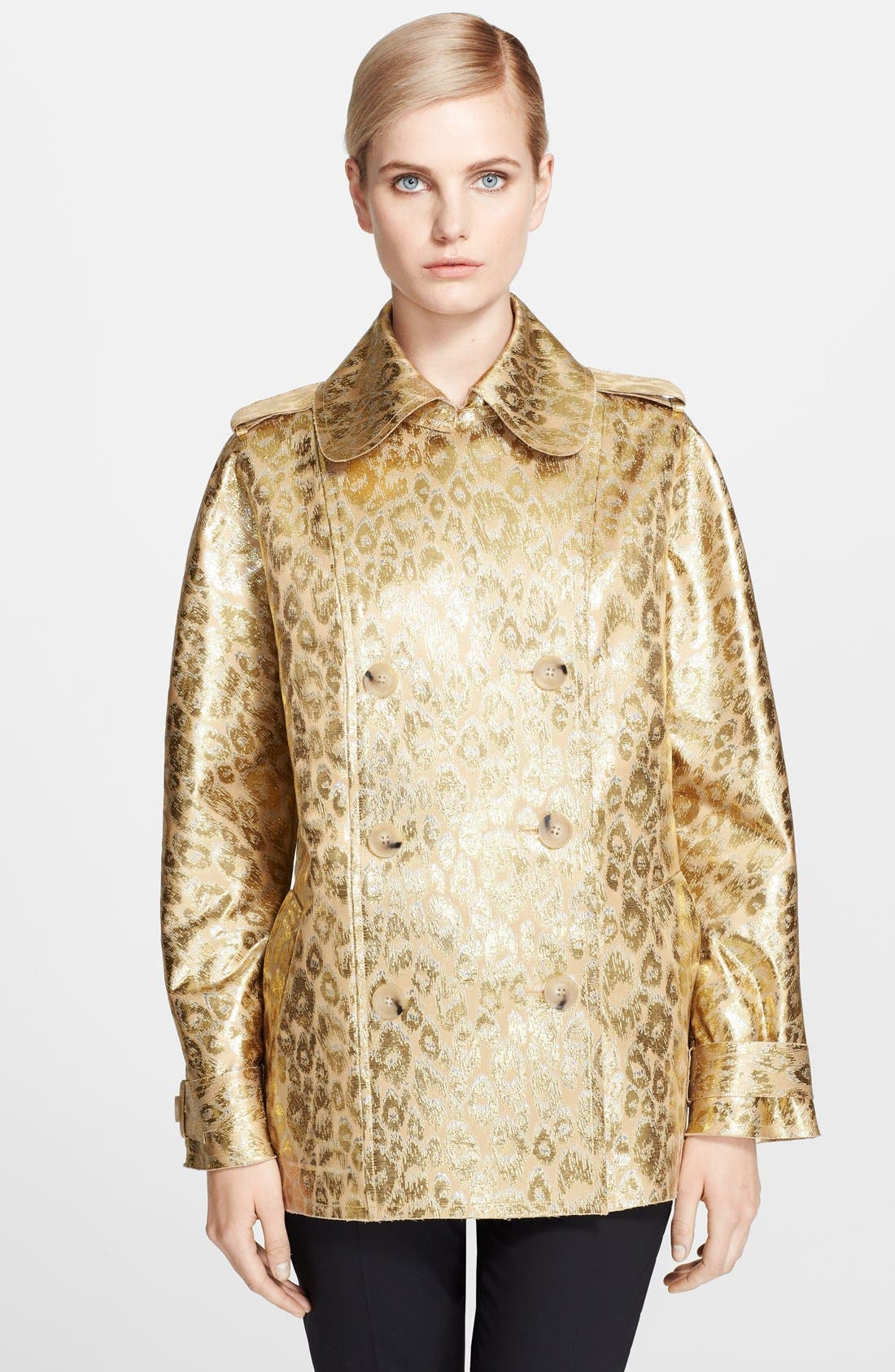 Alternate Image 1 Selected - Lanvin Leopard Brocade Coat