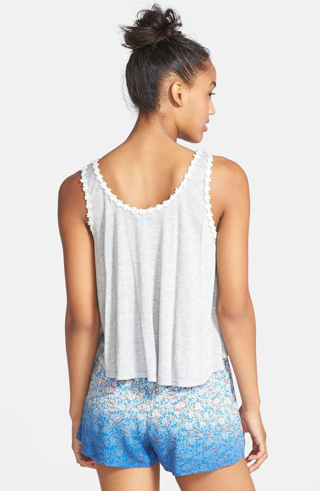 Alternate Image 2  - Blu Pepper Floral Print Ombré Soft Shorts (Juniors)