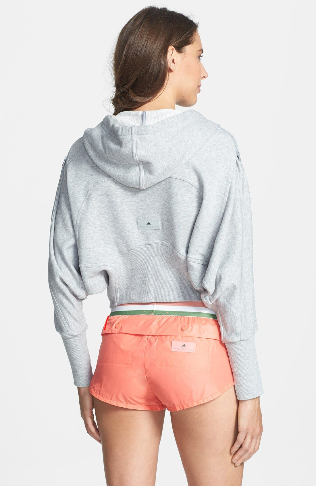 Alternate Image 2  - adidas by Stella McCartney 'Studio' French Terry Crop Hoodie