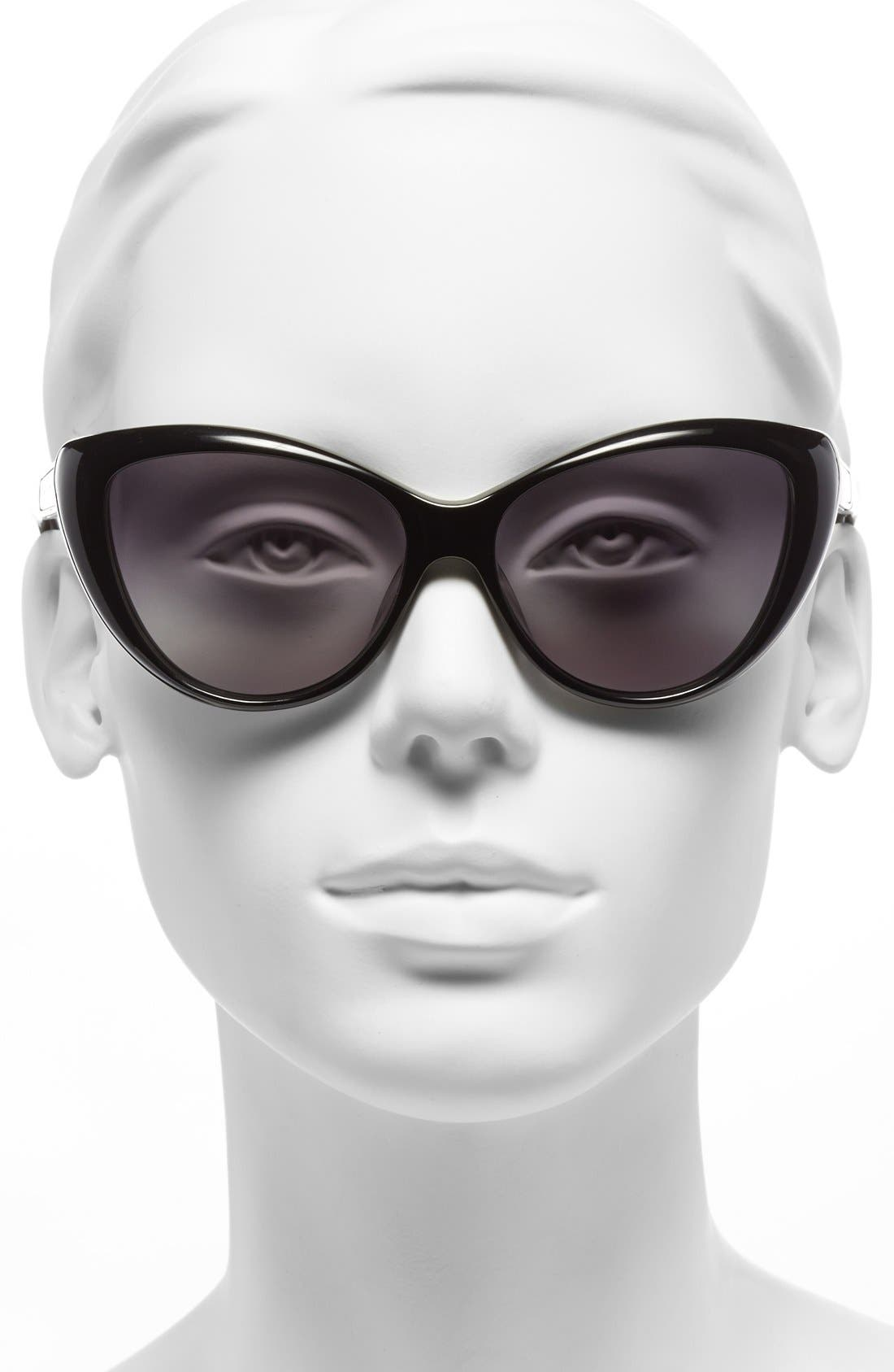 Alternate Image 2  - MARC BY MARC JACOBS 56mm Cat Eye Sunglasses
