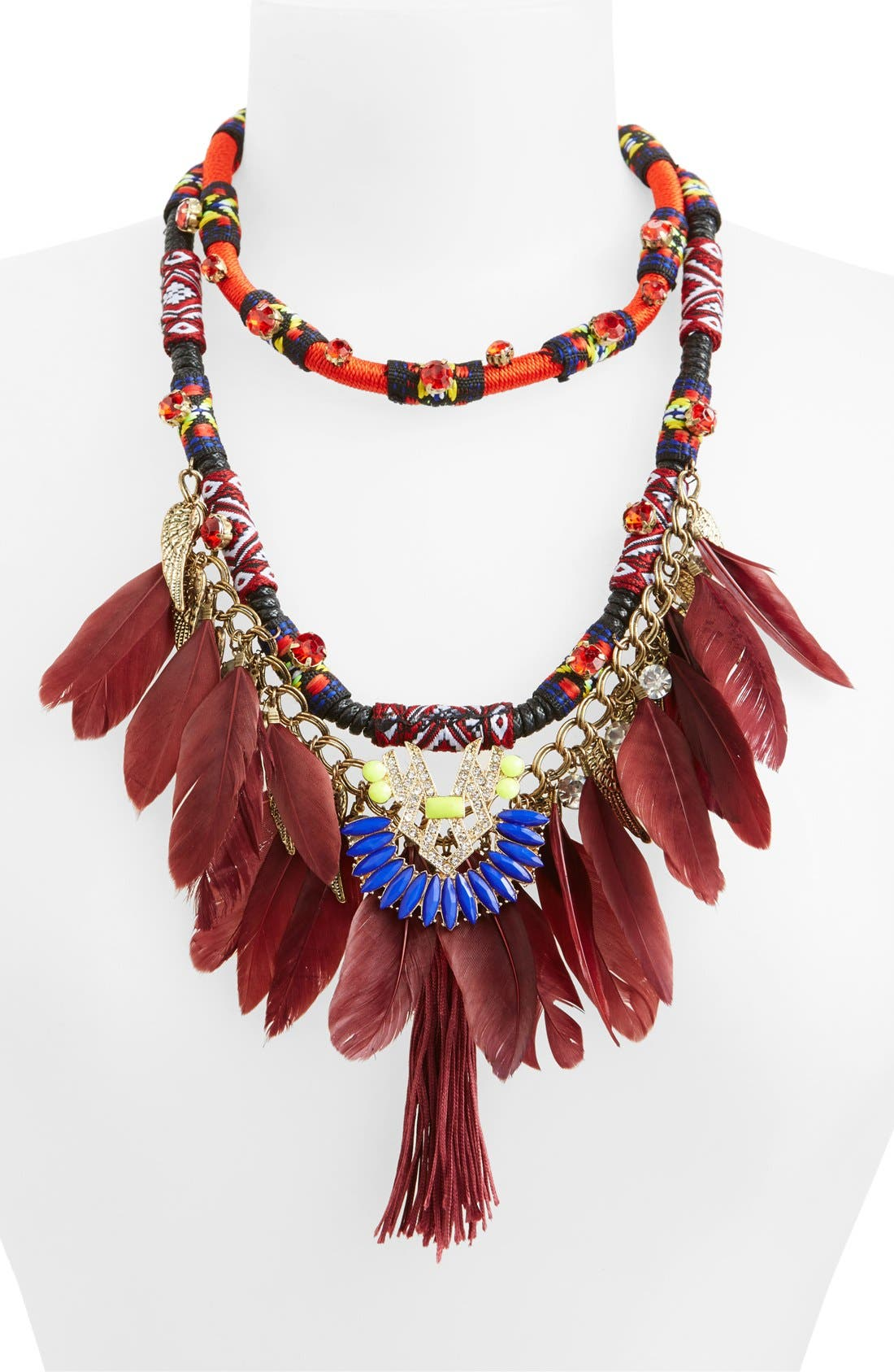 Alternate Image 2  - Leith Feather Statement Necklace