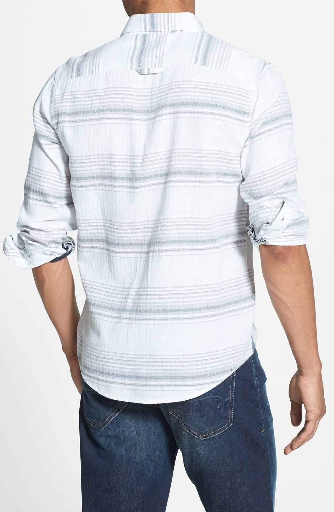 Alternate Image 2  - 1901 Herringbone Stripe Woven Shirt