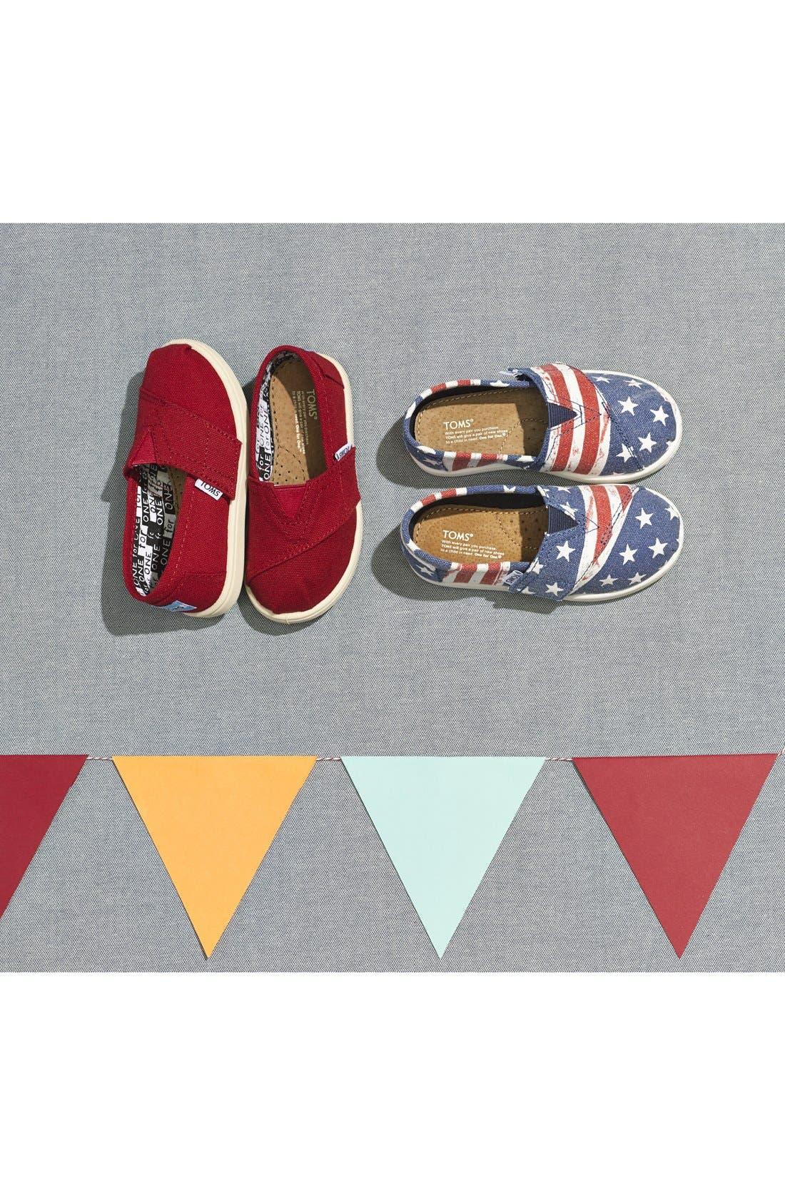 Alternate Image 5  - TOMS 'Classic Tiny - American Flag' Slip-On (Baby, Walker & Toddler)
