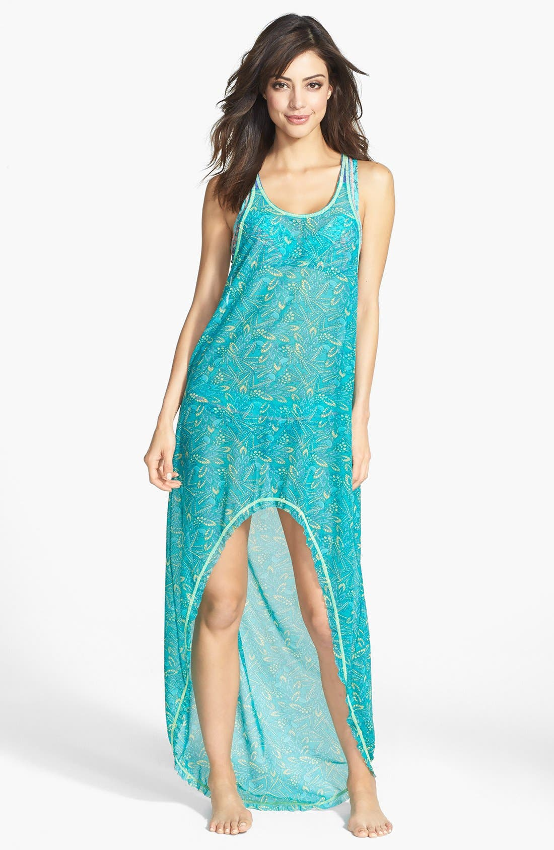 Main Image - Maaji 'Darling Sparrow' High/Low Cover-Up Dress (Nordstrom Exclusive)