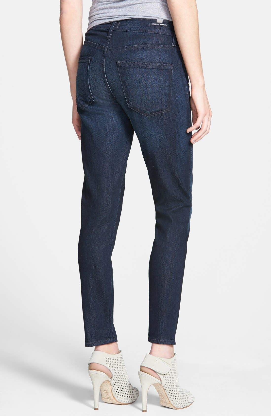Alternate Image 2  - Citizens of Humanity 'Rocket' Crop Skinny Jeans (Space)