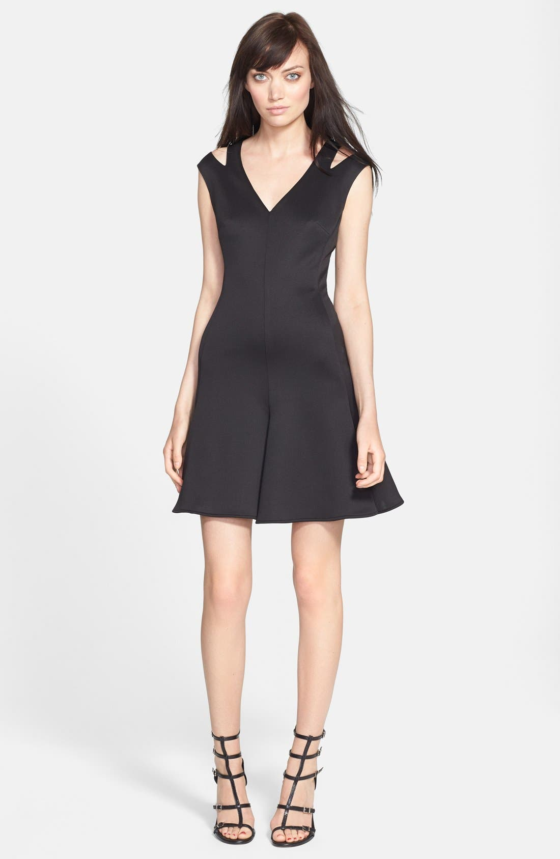 Alternate Image 3  - Alexia Admor Cold Shoulder Ponte Fit & Flare Dress