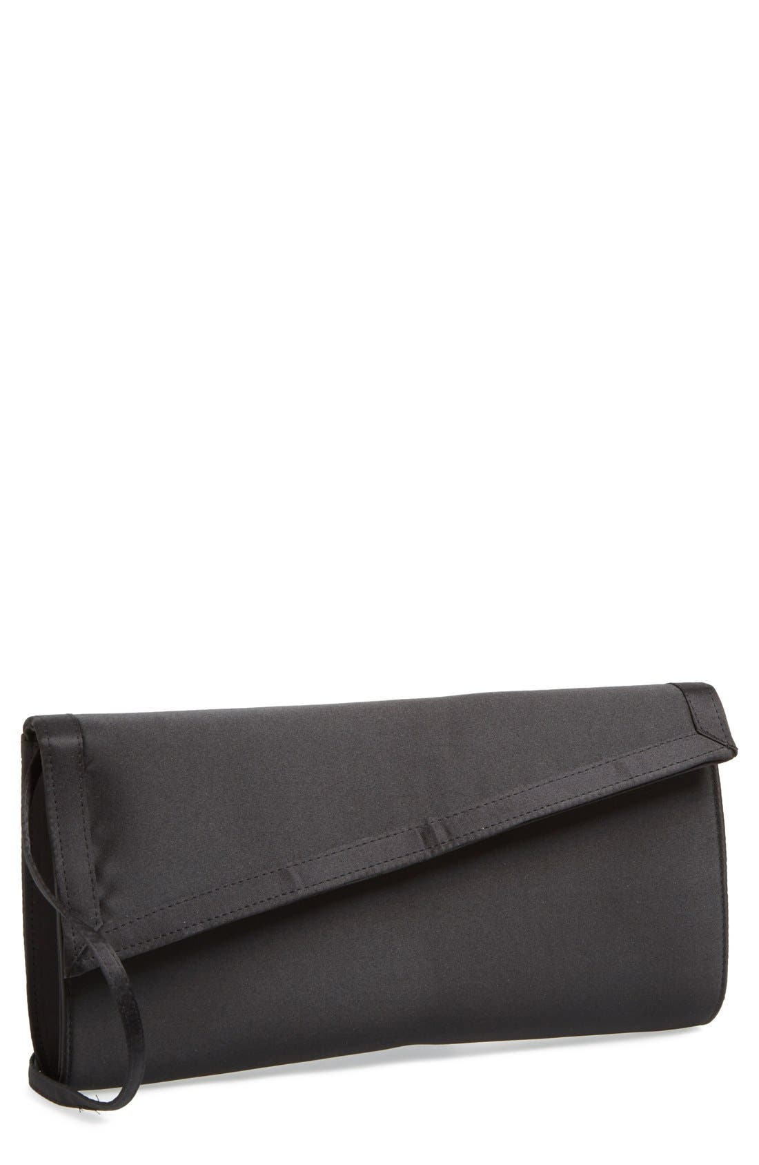 Alternate Image 1 Selected - Nina 'Large Lincoln' Satin Clutch