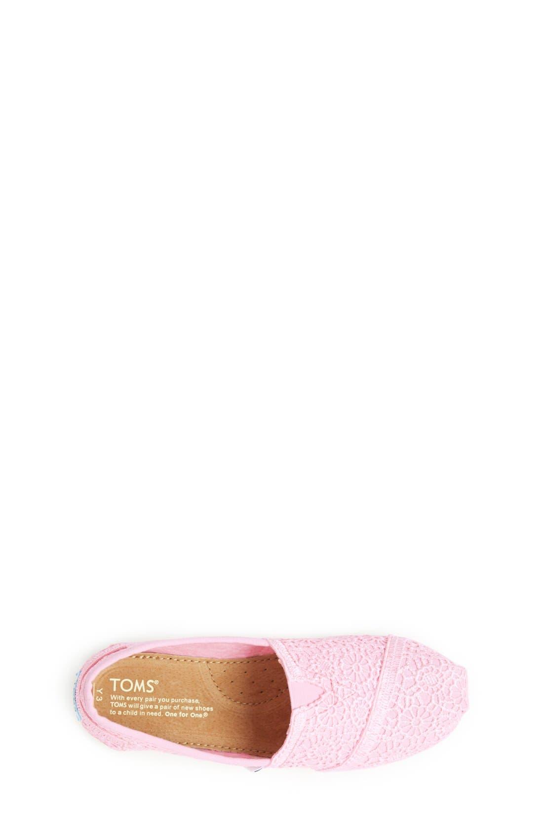 Alternate Image 3  - TOMS 'Classic - Crochet' Slip-On (Toddler, Little Kid & Big Kid)