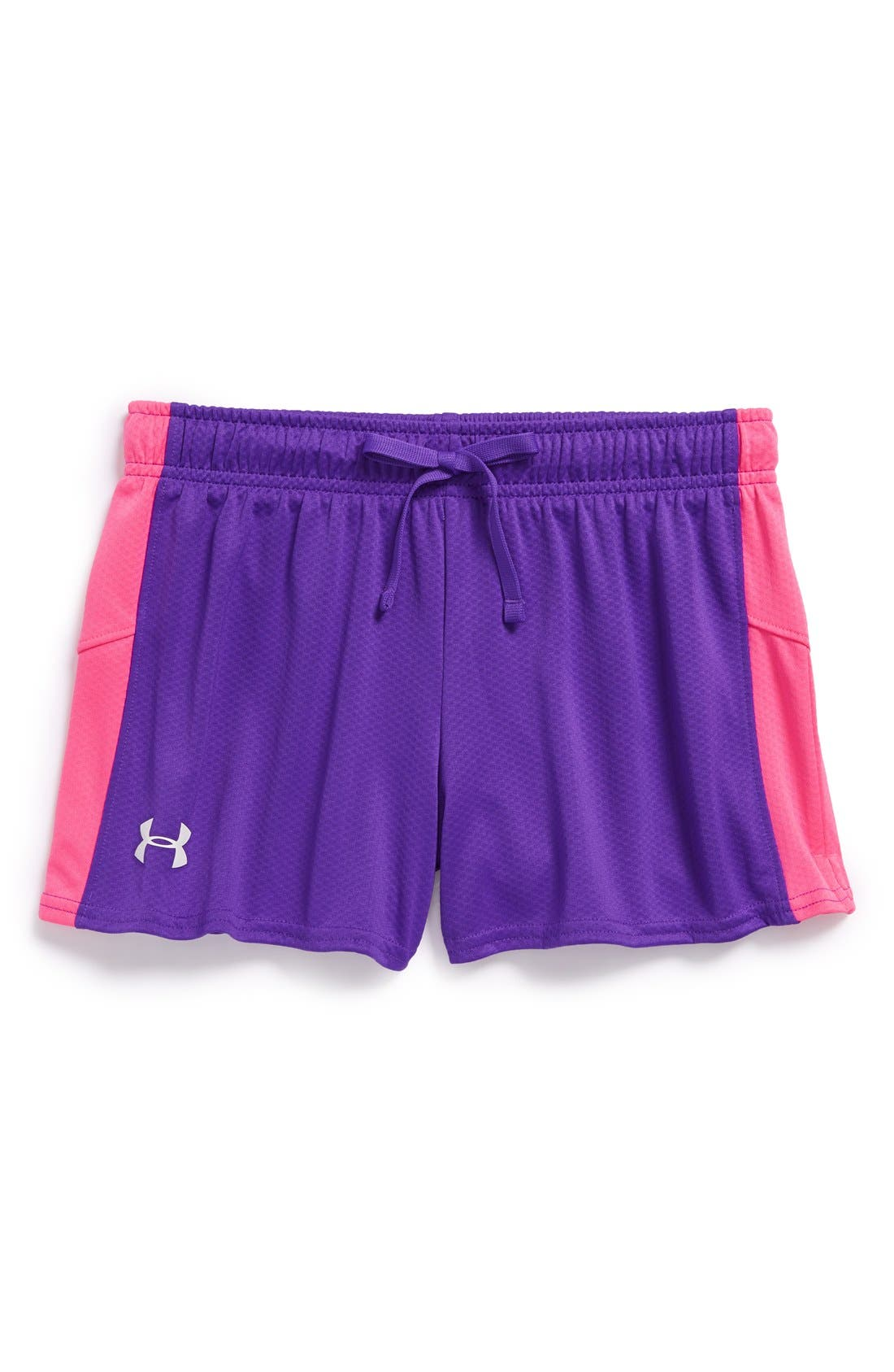 Main Image - Under Armour 'Intensity' HeatGear® Shorts (Big Girls)