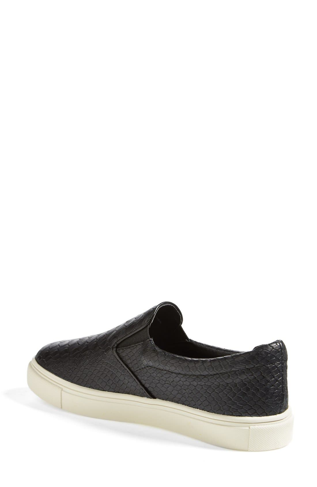 Alternate Image 2  - Steve Madden 'Ecntrc-c' Snake-Embossed Slip-On Sneaker (Women)
