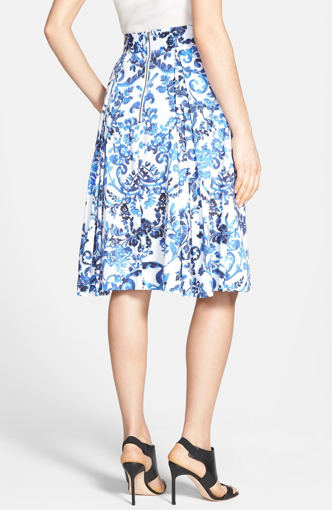 Alternate Image 2  - Milly 'Katie' Print Flare Skirt