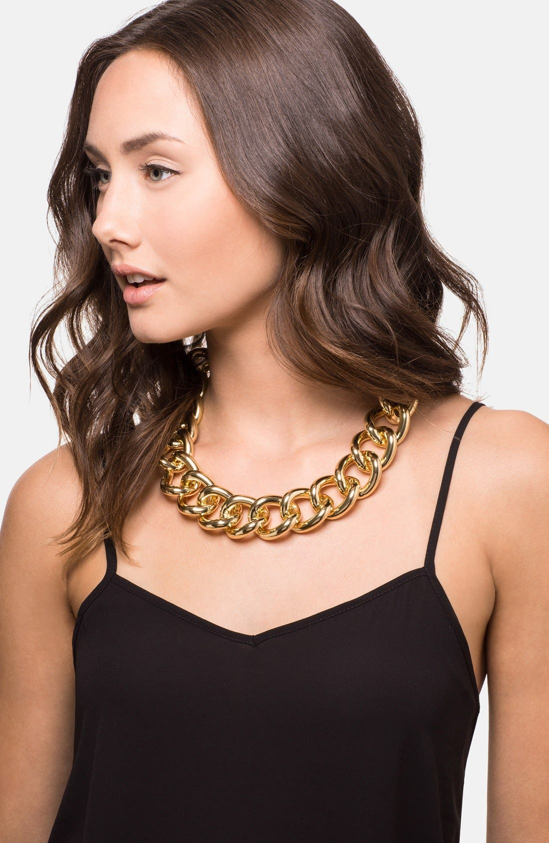 Alternate Image 2  - BaubleBar Rolo Chain Link Collar Necklace