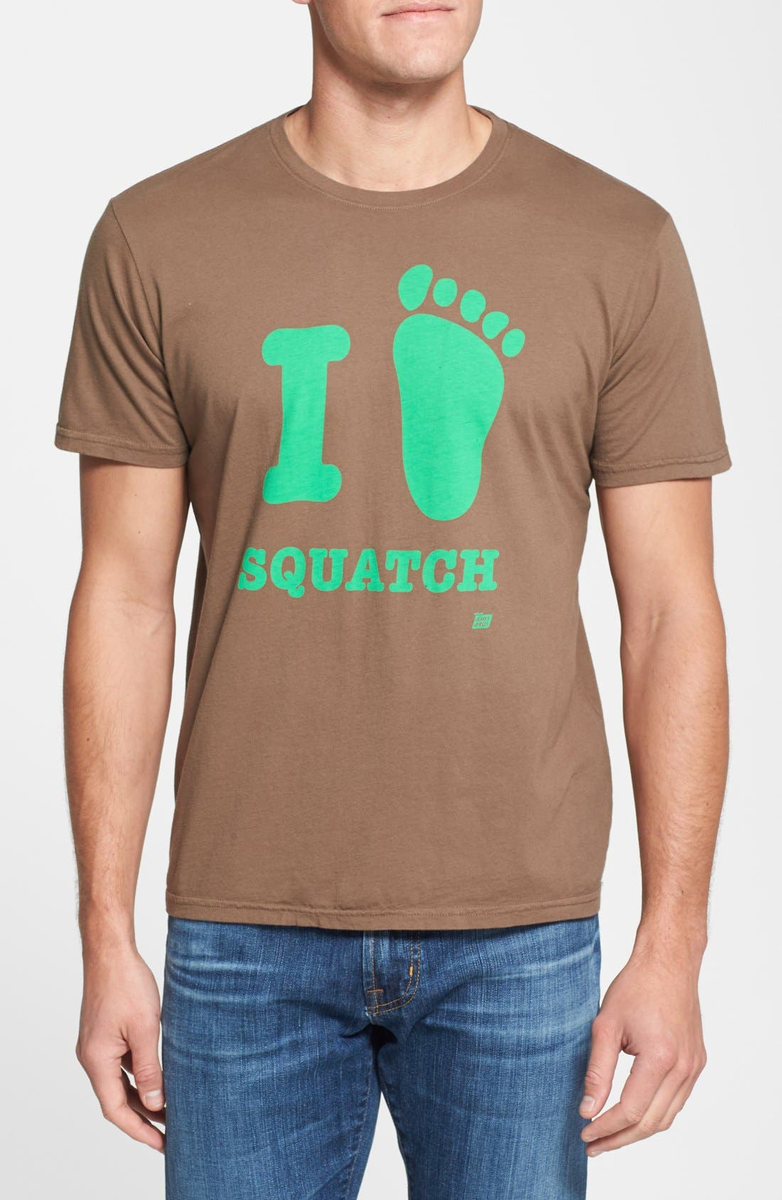 Alternate Image 1 Selected - Ames Bros. 'I Love Squatch' Graphic T-Shirt