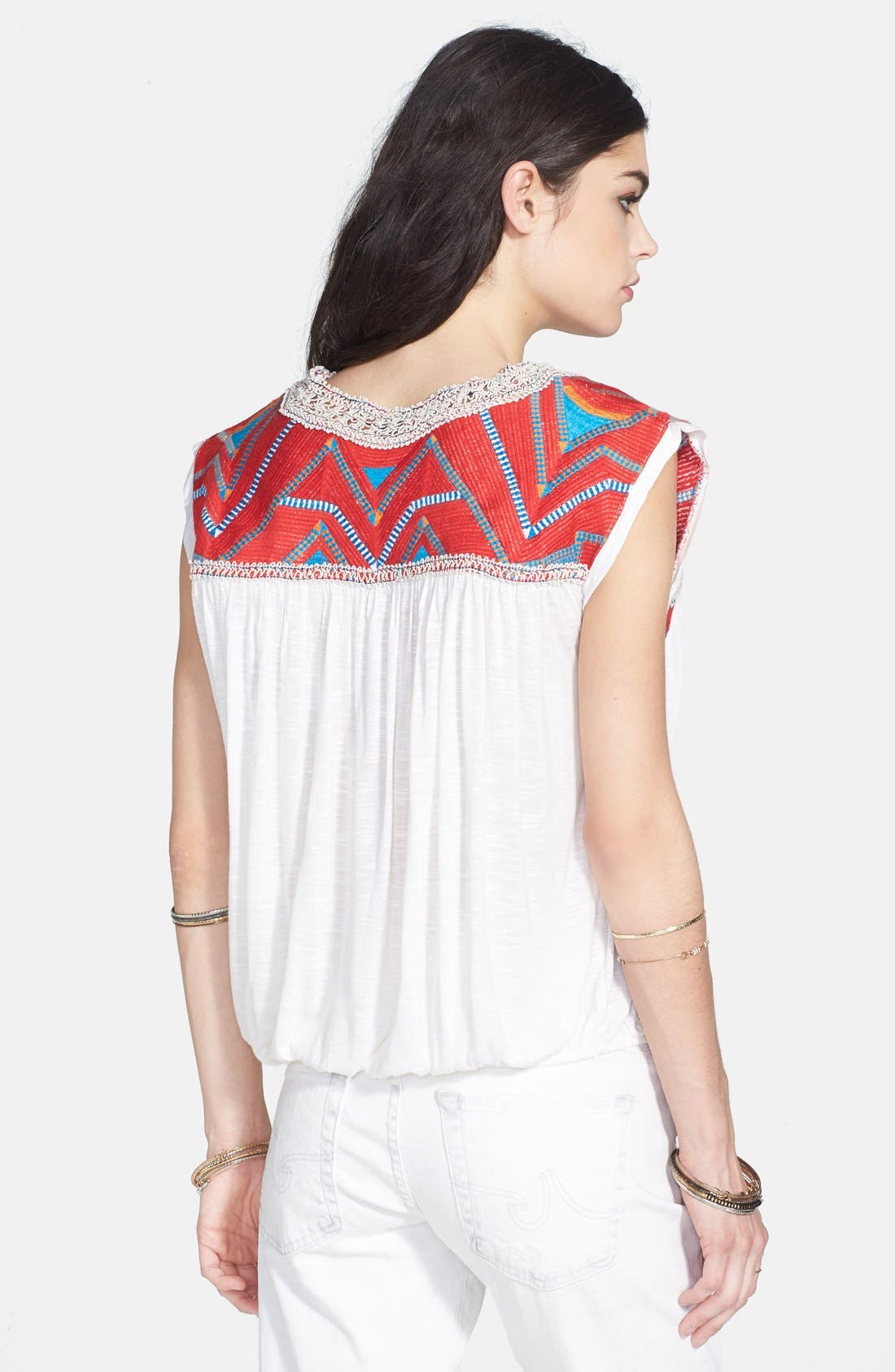 Alternate Image 2  - Free People 'Tribal Disco' Embroidered Yoke Top