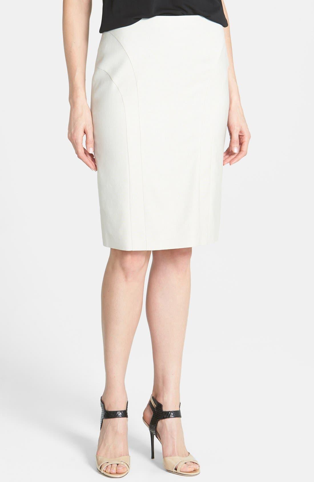 Main Image - BOSS 'Vekita' Suiting Skirt