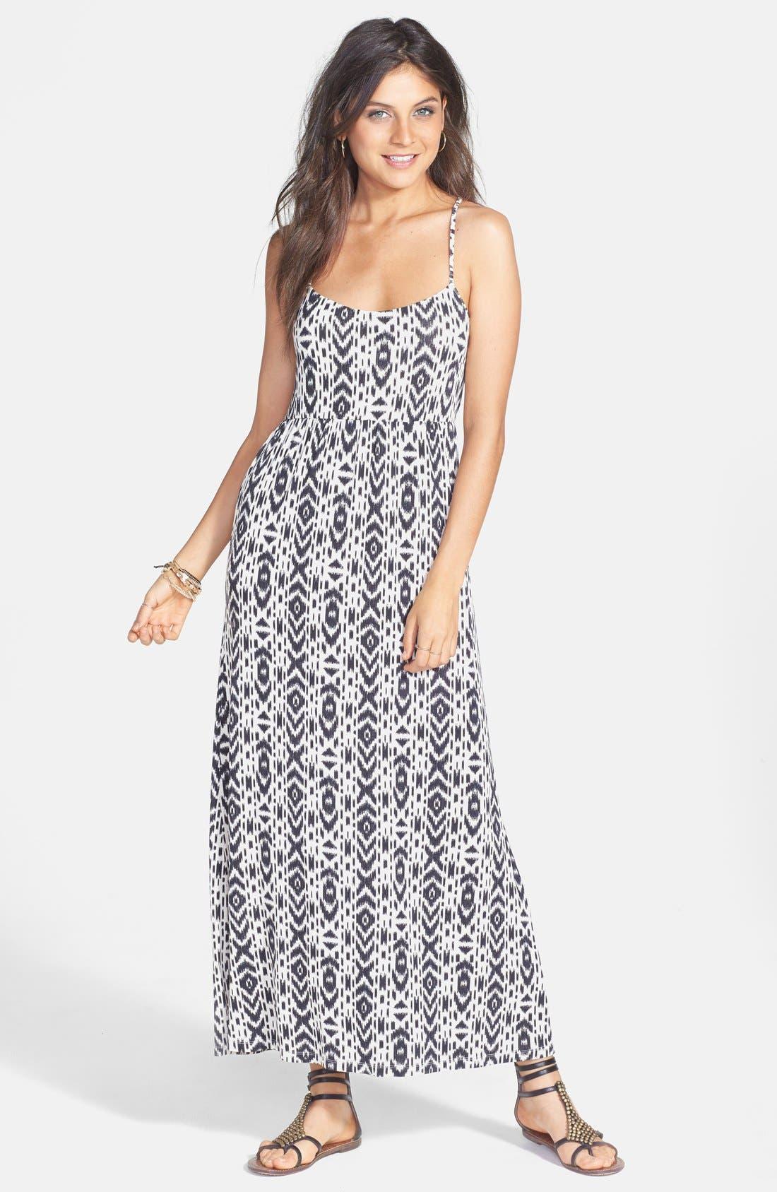 Alternate Image 1 Selected - Volcom 'Play Along' Print Strap Detail Maxi Dress