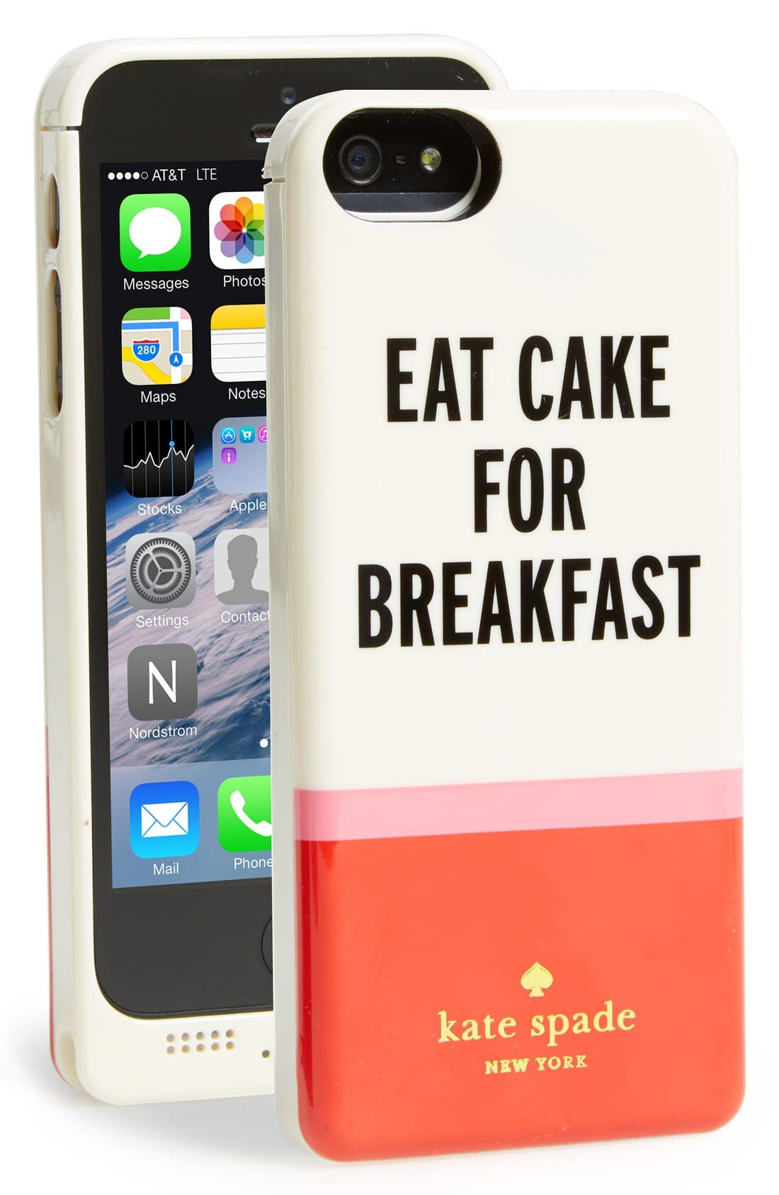 Alternate Image 1 Selected - kate spade new york 'eat cake for breakfast' iPhone 5 charger