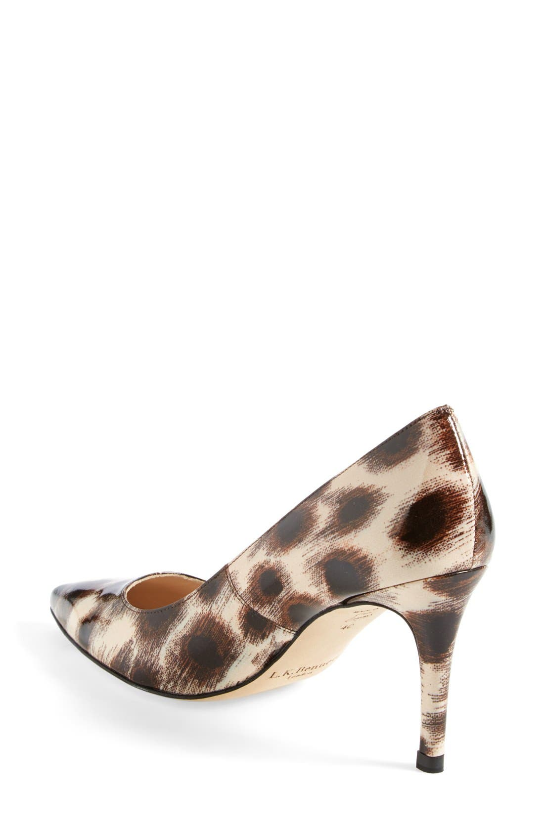 Alternate Image 2  - L.K. Bennett 'Floret' Leopard Print Patent Pointy Toe Pump (Women)