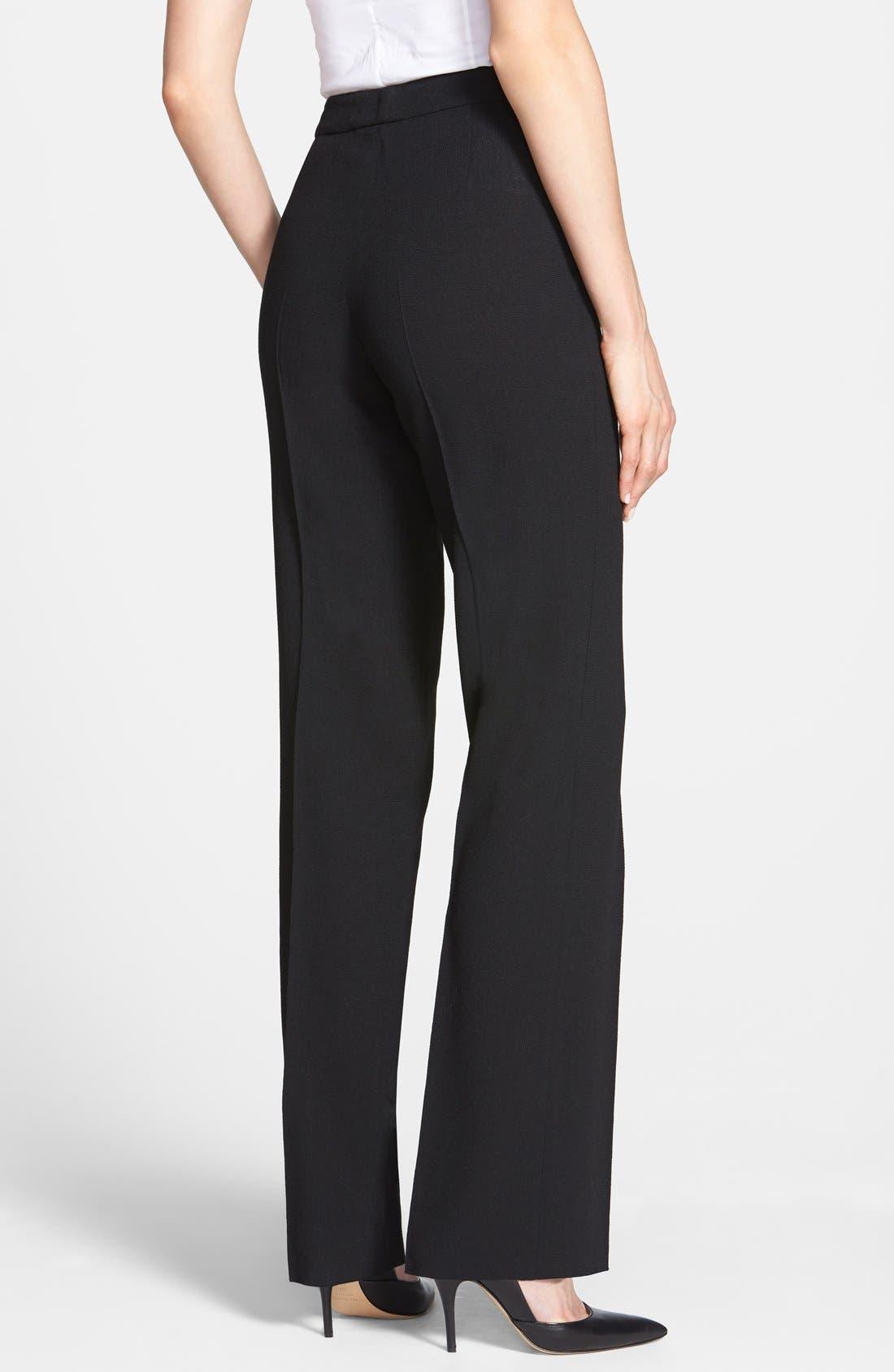Alternate Image 2  - Santorelli Wool Crepe Straight Leg Pants