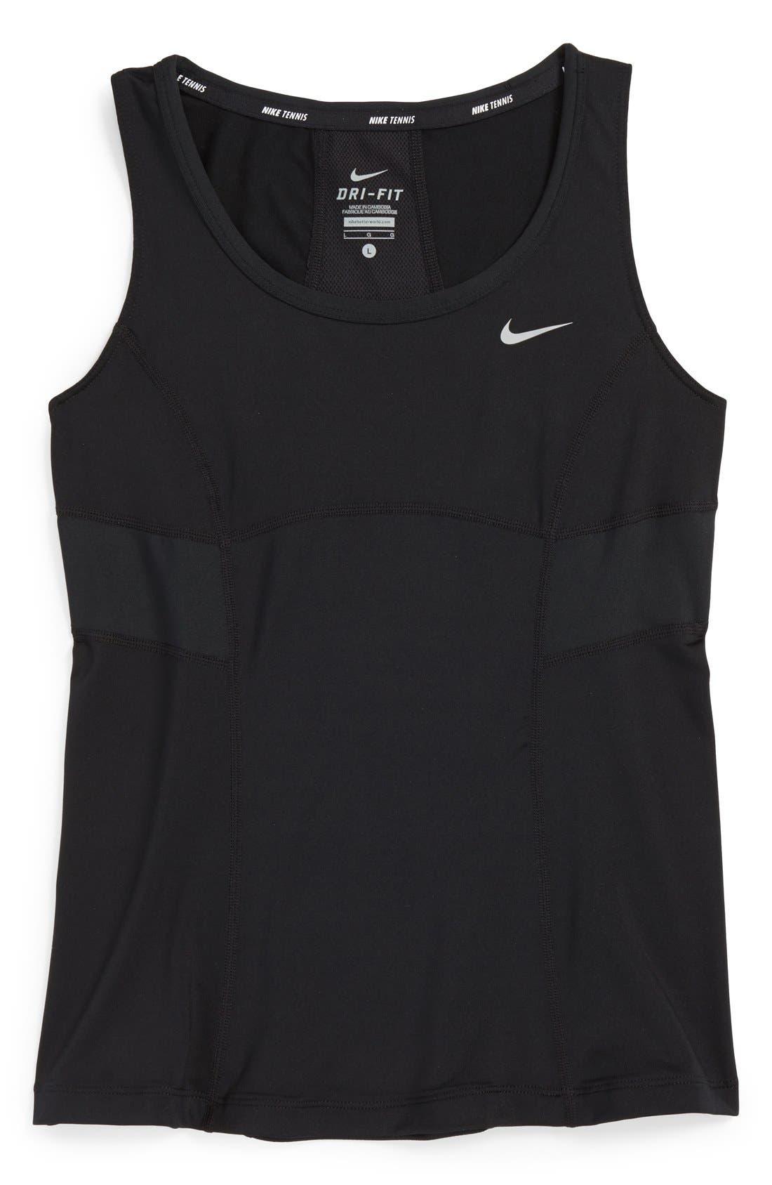 Alternate Image 1 Selected - Nike 'Power' Tennis Tank Top (Big Girls)