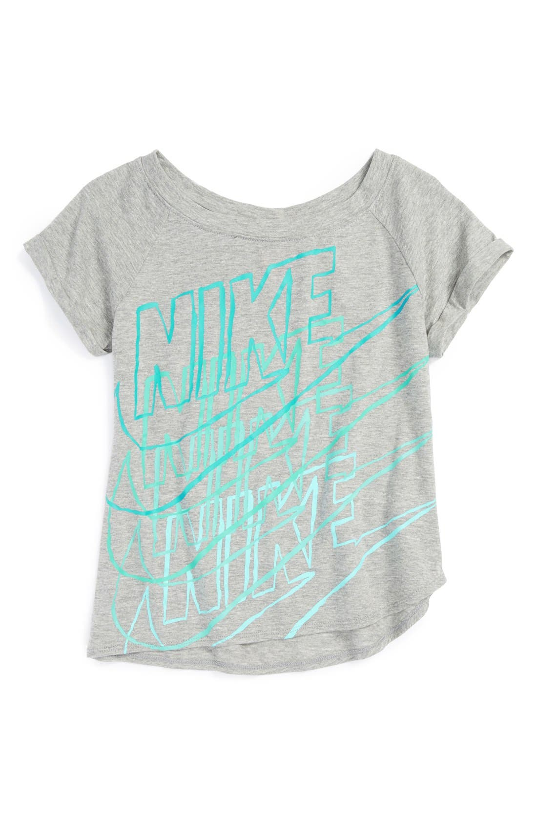 Alternate Image 1 Selected - Nike Graphic Tee (Little Girls & Big Girls)