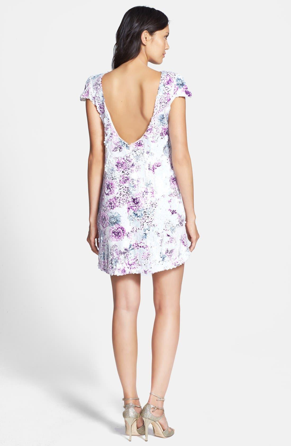 Alternate Image 2  - Dress the Population 'Brooke' Paillette Embellished Dress