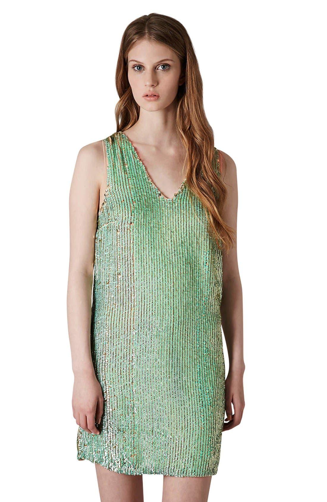 Main Image - Topshop Sequin Shift Dress