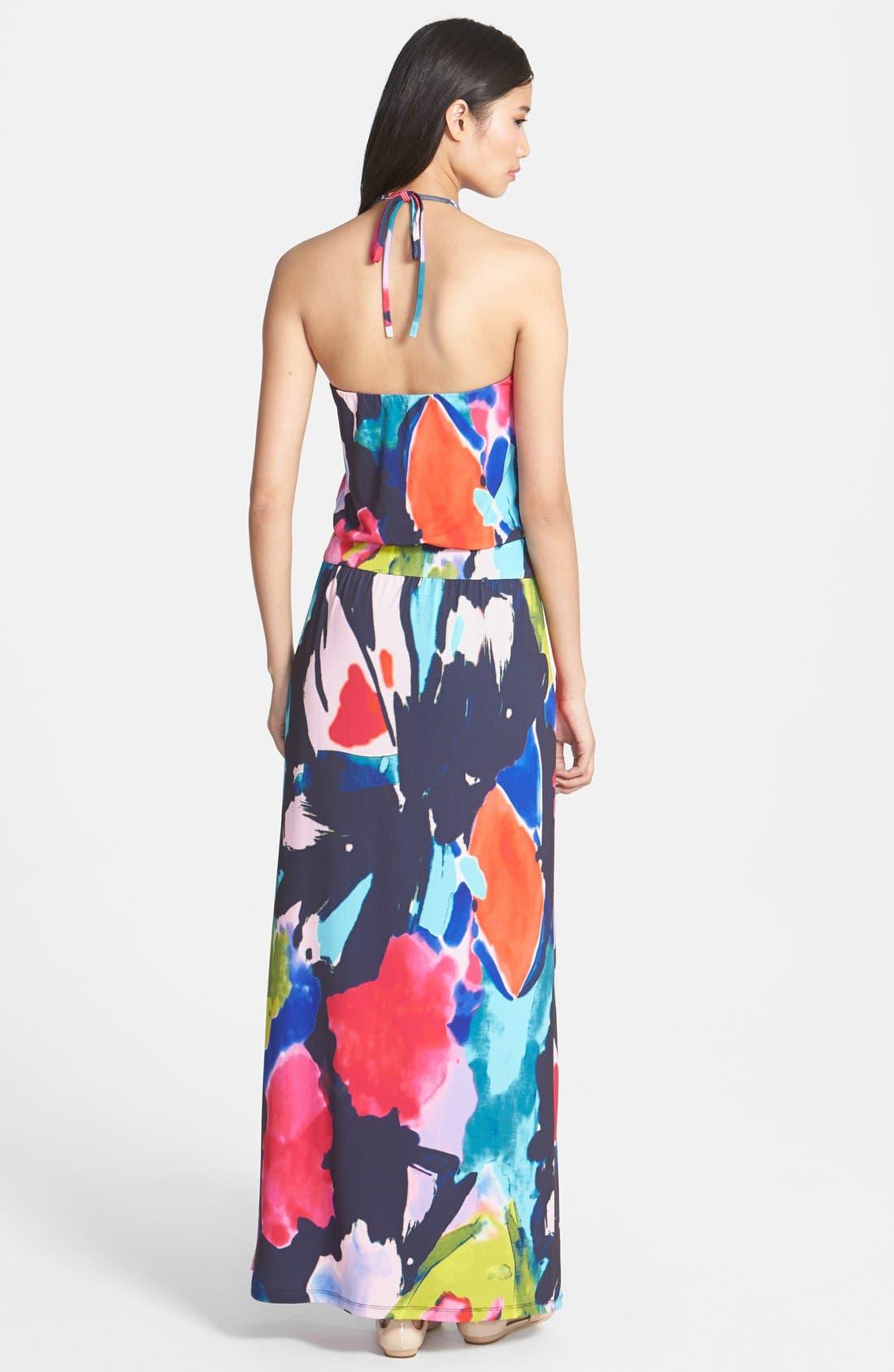 Alternate Image 2  - Trina Turk 'Shirley' Floral Print Halter Maxi Dress