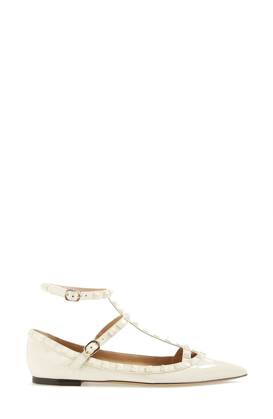 Alternate Image 4  - Valentino 'Punkouture' Studded T-Strap Pointy Toe Flat (Women)