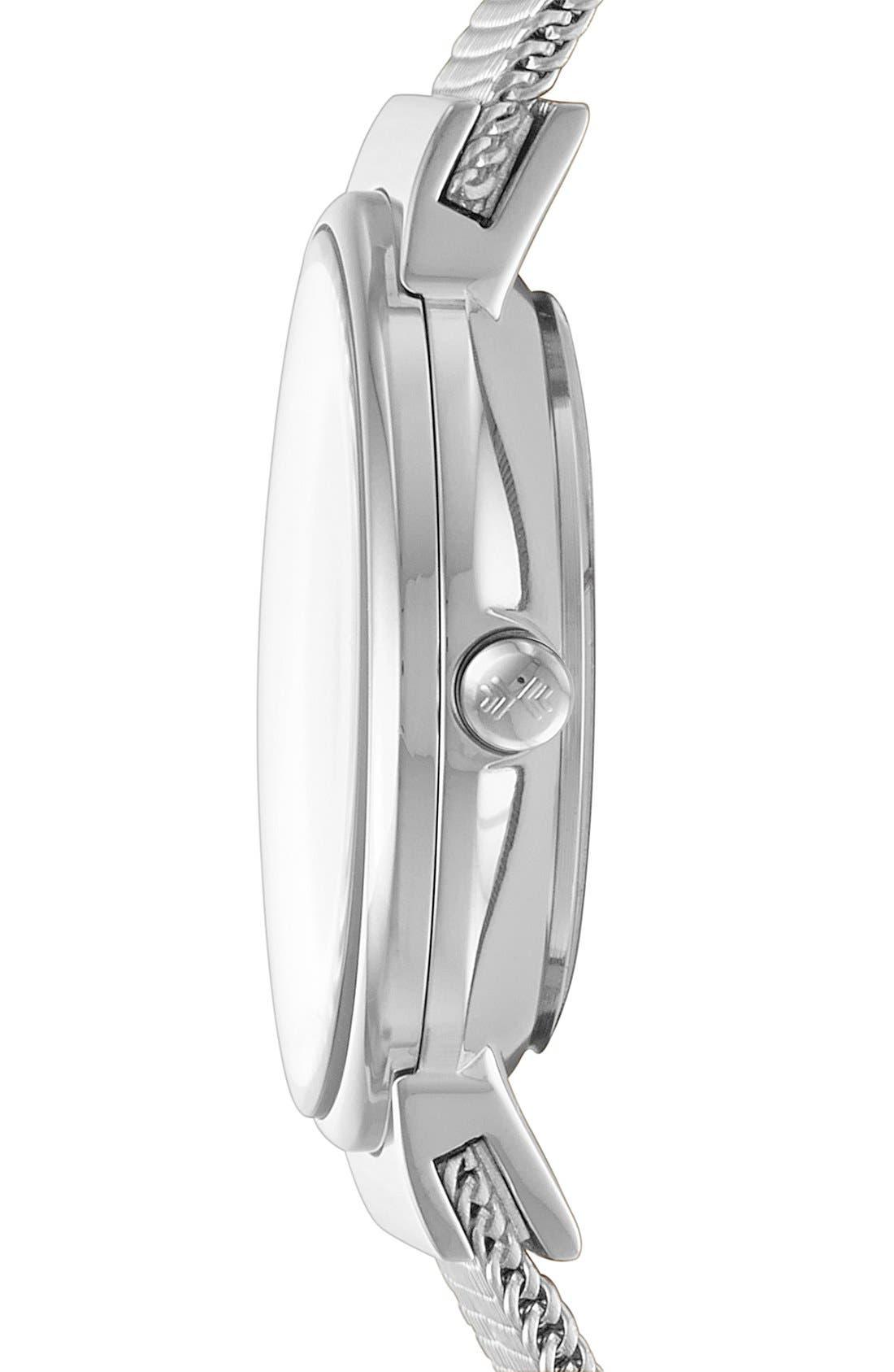 Alternate Image 3  - Skagen 'Ancher' Crystal Index Mesh Strap Watch, 26mm
