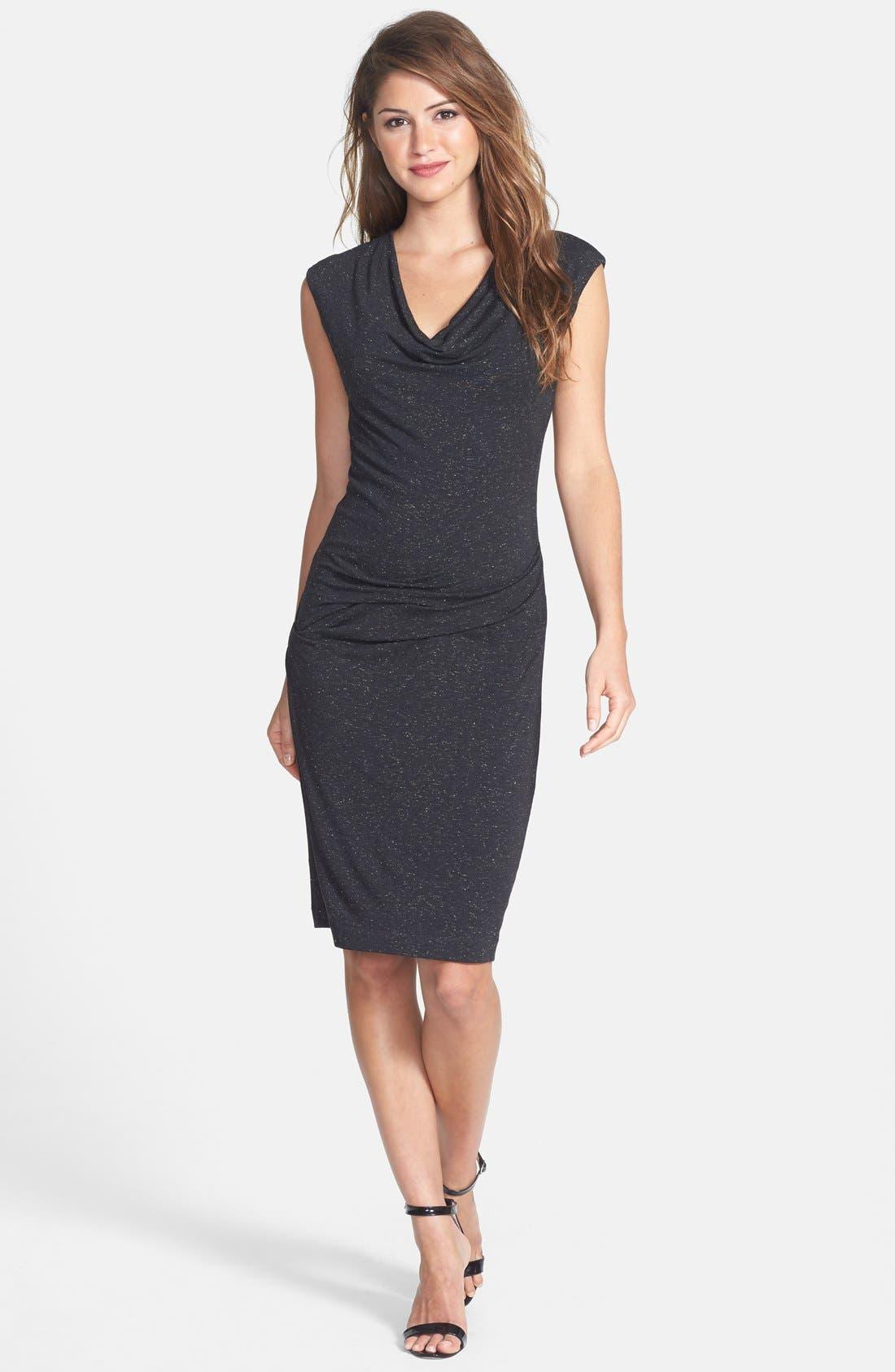 Alternate Image 3  - Nicole Miller Speckled Metallic Jersey Dress
