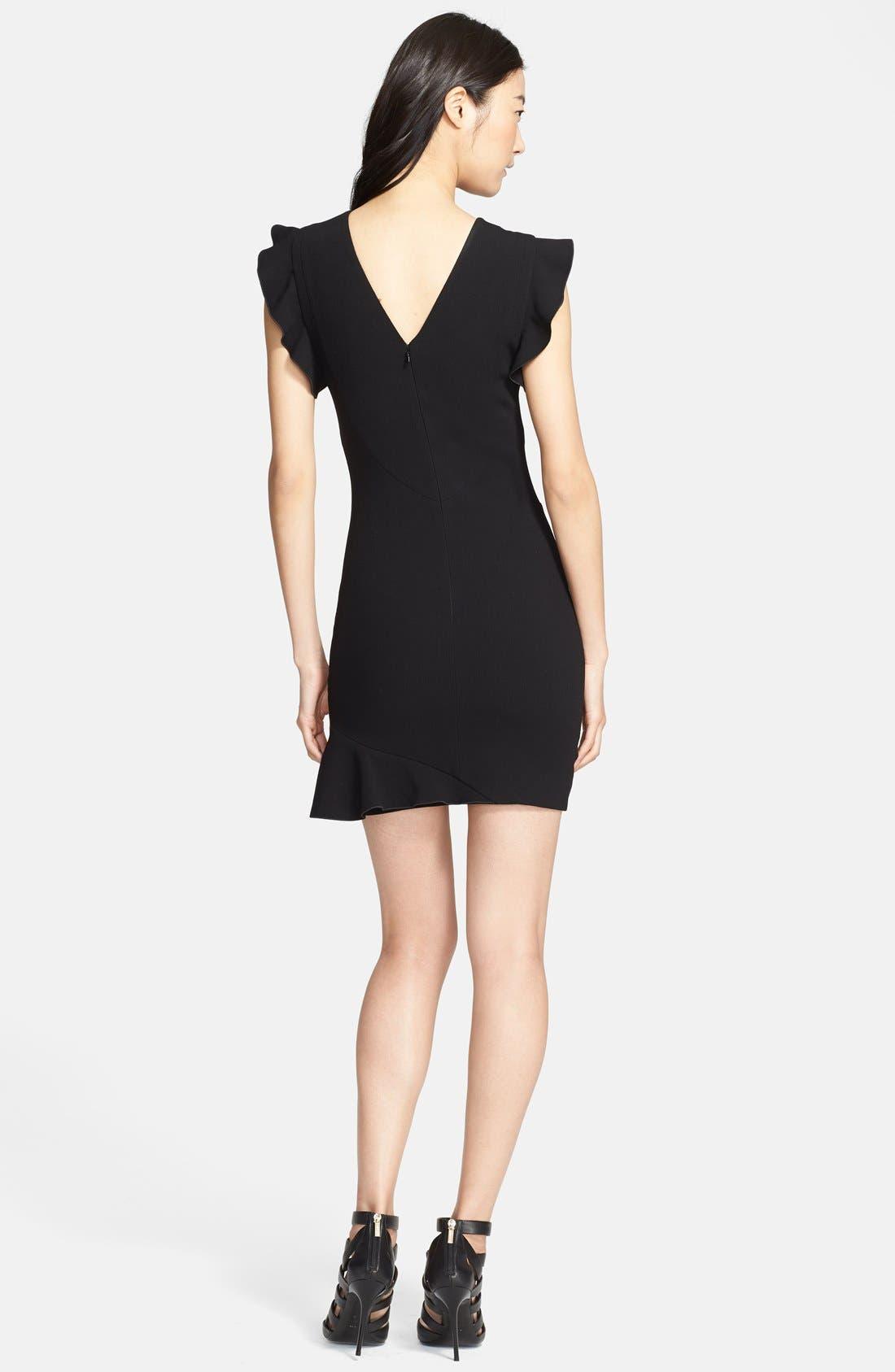 Alternate Image 2  - Emilio Pucci Ruffled Sleeve Stretch Wool Dress