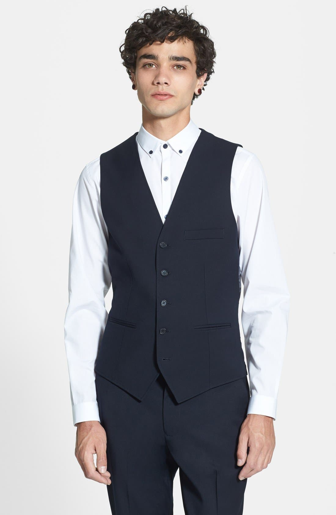 Alternate Image 1 Selected - Topman Skinny Fit Vest