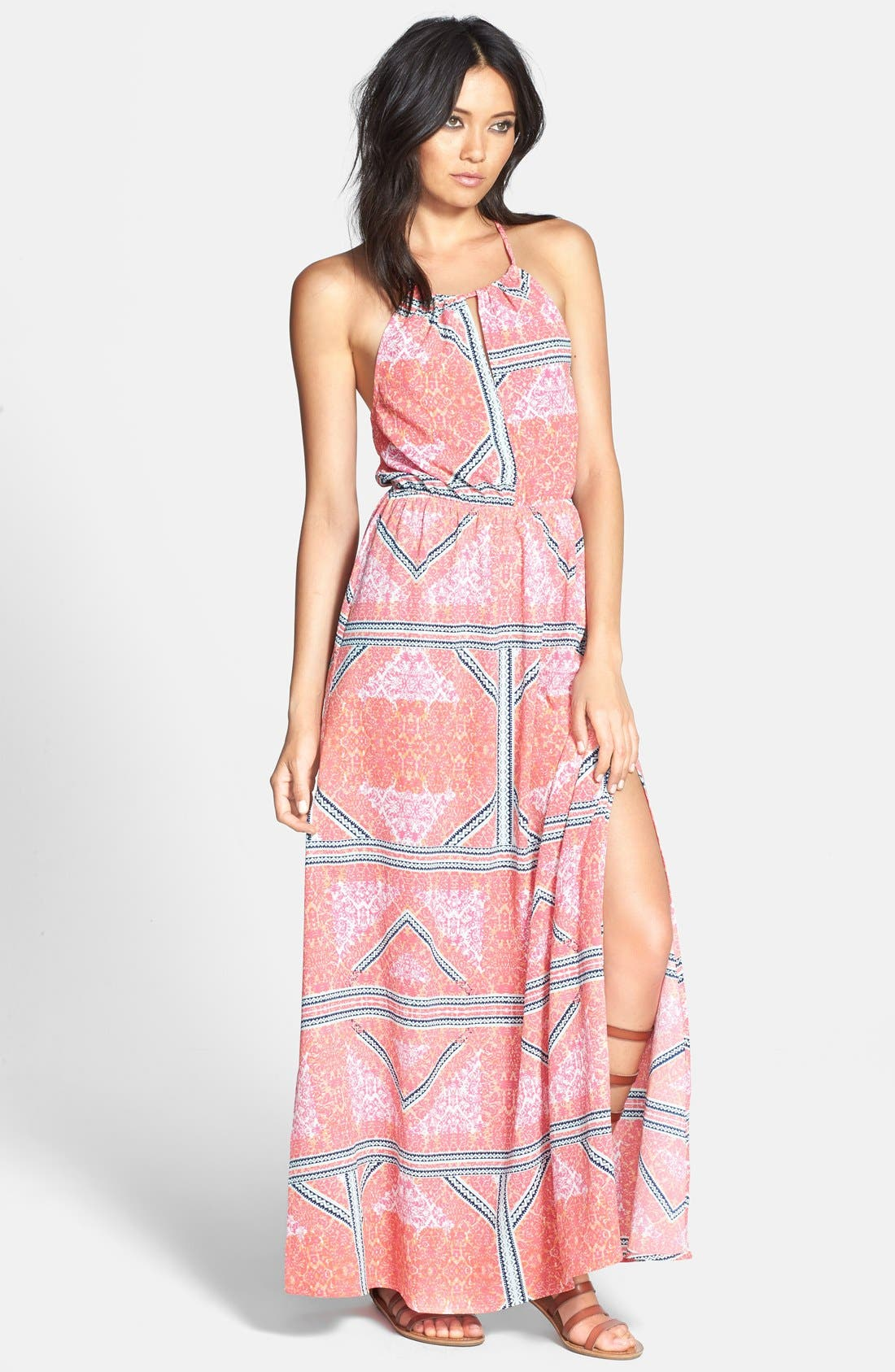 Main Image - MINKPINK Print Cage Back Maxi Dress