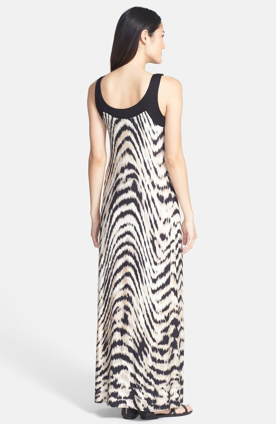 Alternate Image 2  - wallis Swirled Animal Print Maxi Dress