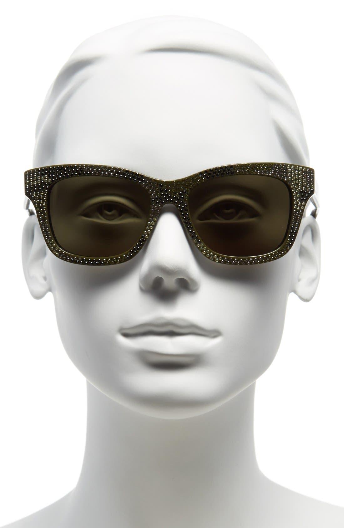 Alternate Image 2  - Valentino 'Crystal Camo' 53mm Sunglasses