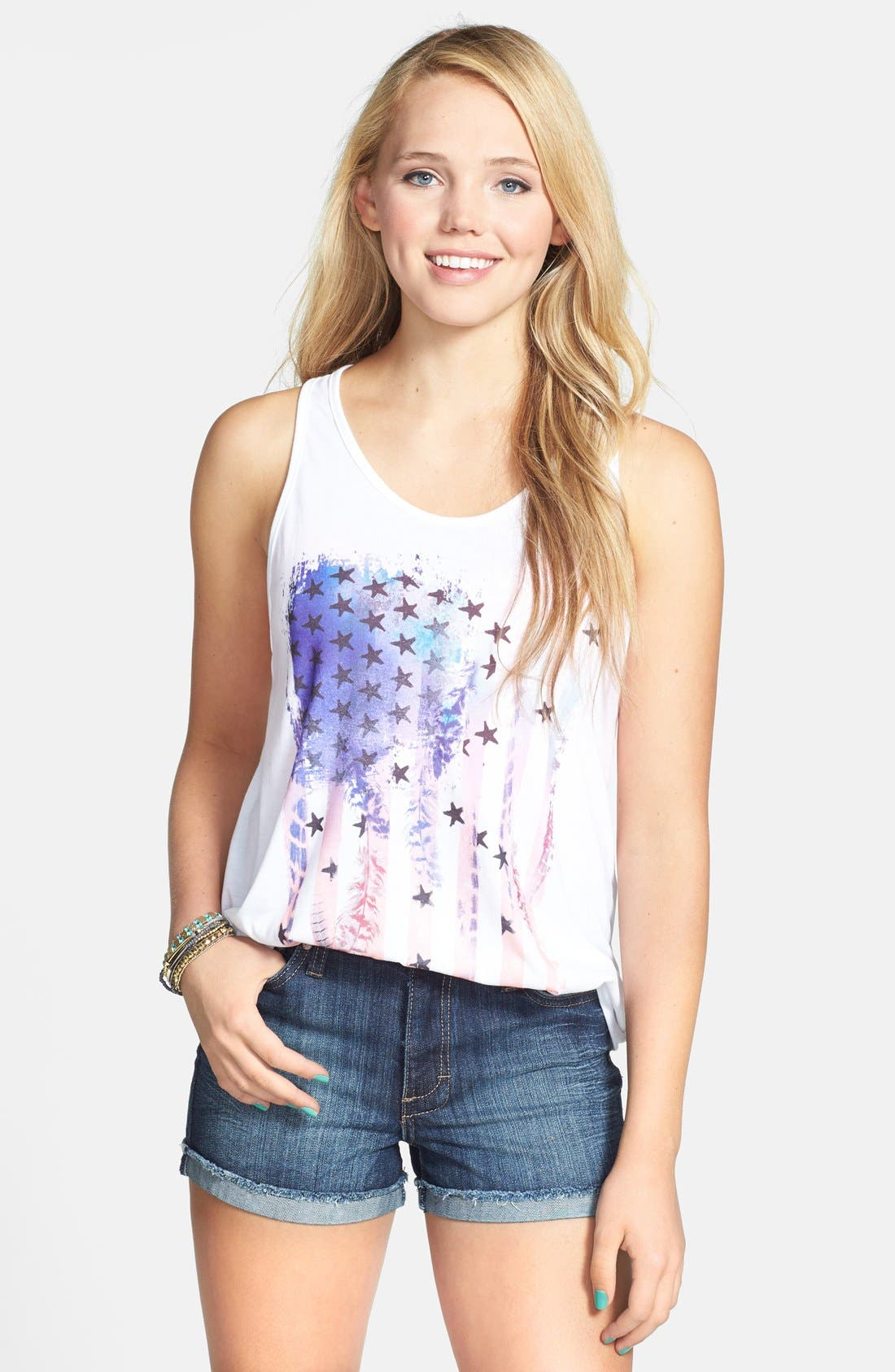 Alternate Image 1 Selected - PPLA Flag Graphic Racerback Tank (Juniors)