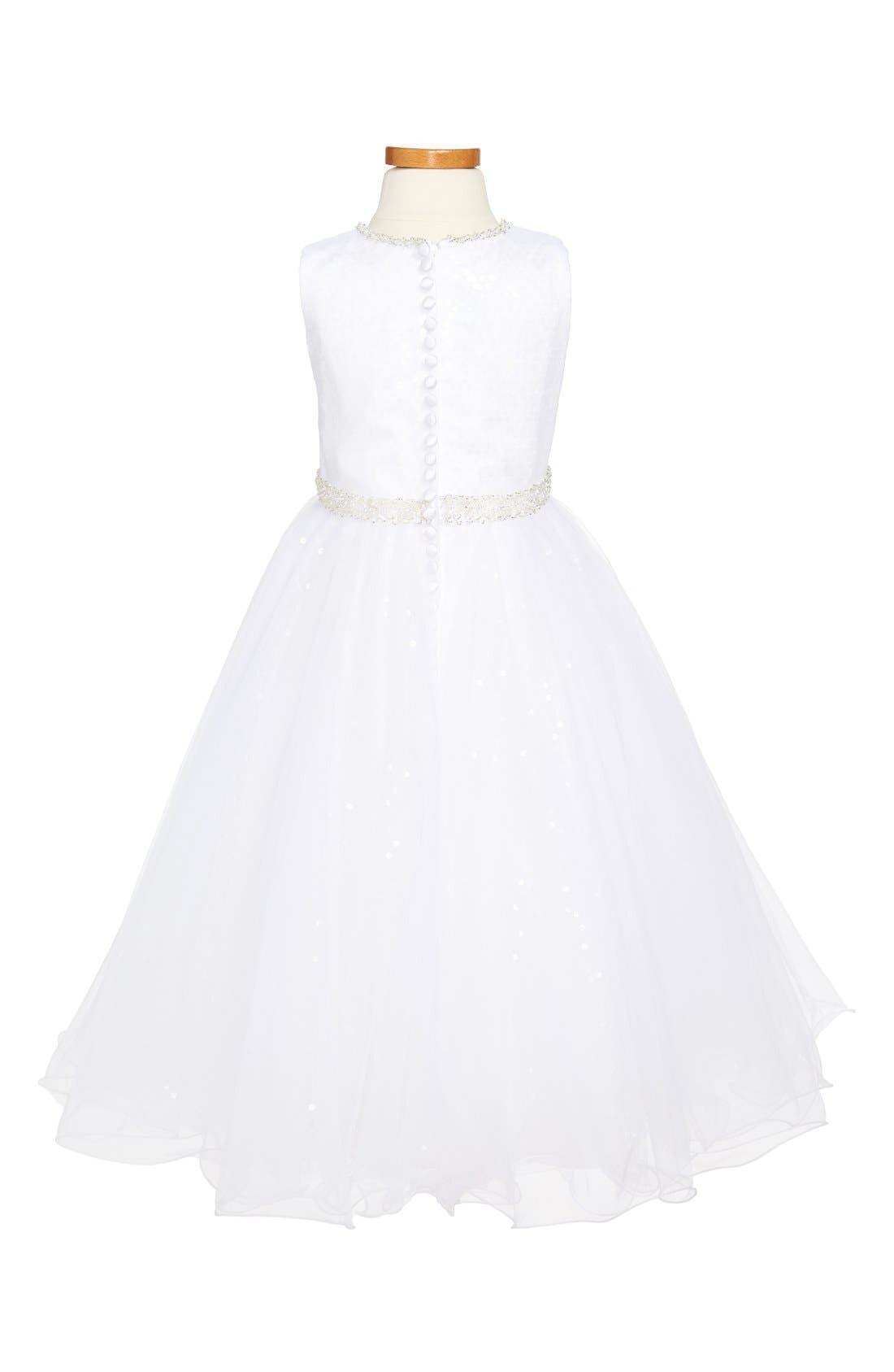 Alternate Image 2  - Joan Calabrese for Mon Cheri Tulle Dress (Big Girls)