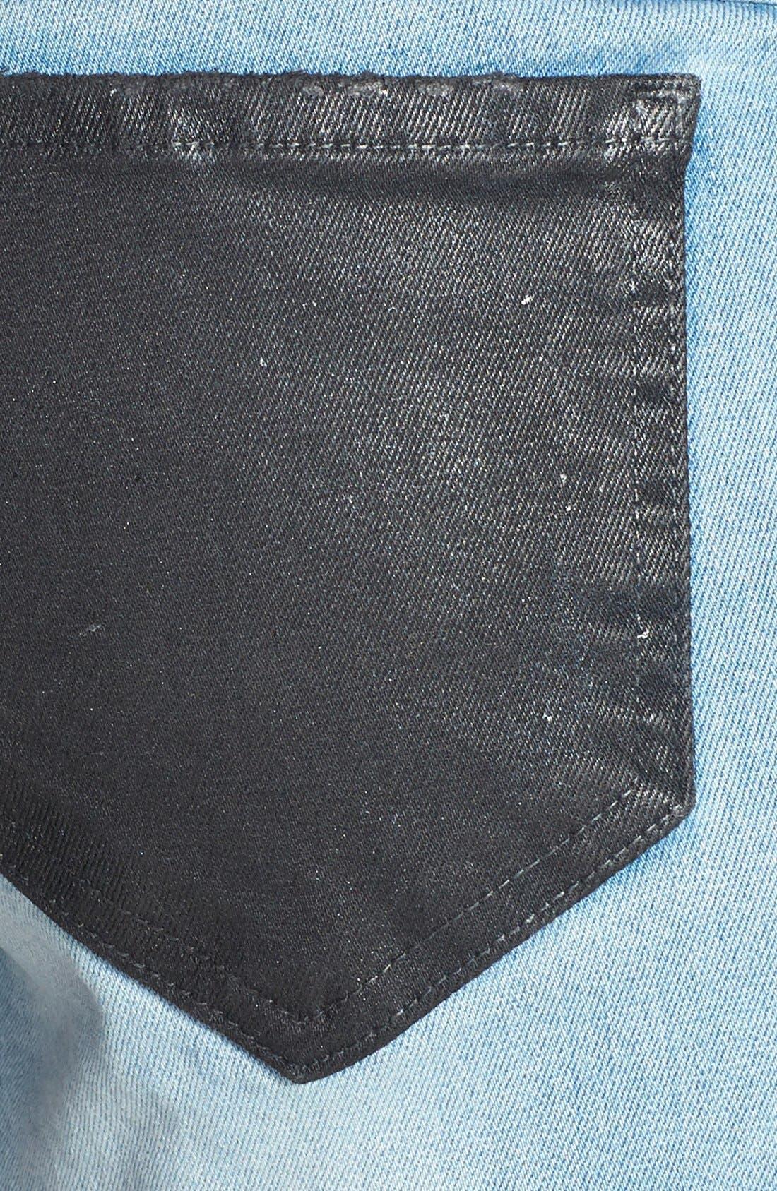 Alternate Image 3  - Wildfox 'Ruby' Contrast Pocket Cutoff Shorts (Soulmates)
