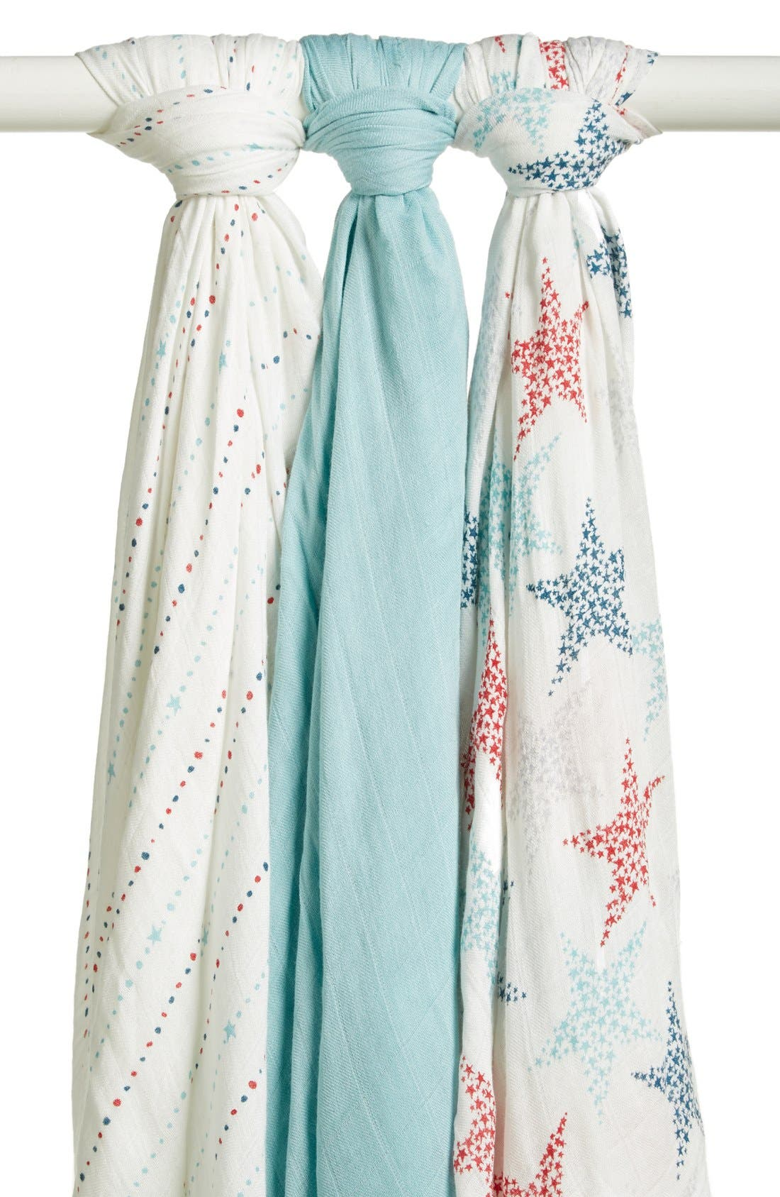 Alternate Image 1 Selected - aden + anais Print Swaddling Blanket (3-Pack) (Nordstrom Exclusive)