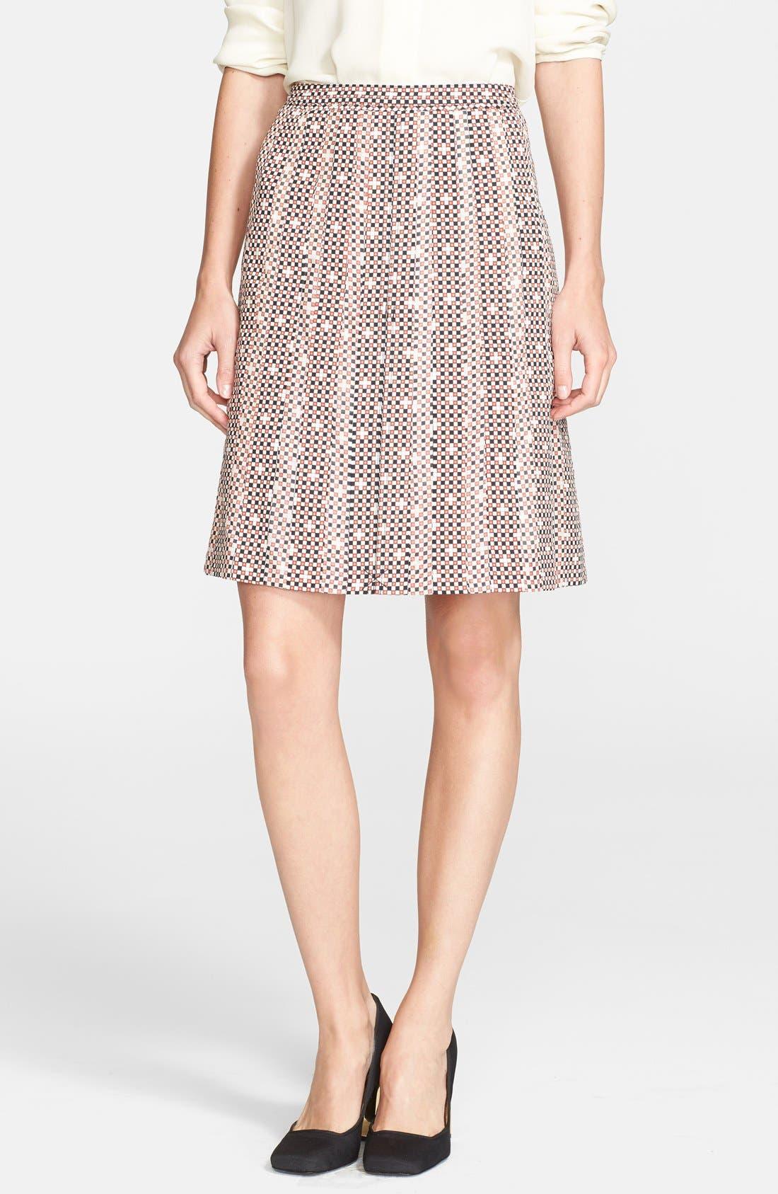 Alternate Image 1 Selected - Tory Burch 'Floria' Print Stretch Silk Skirt
