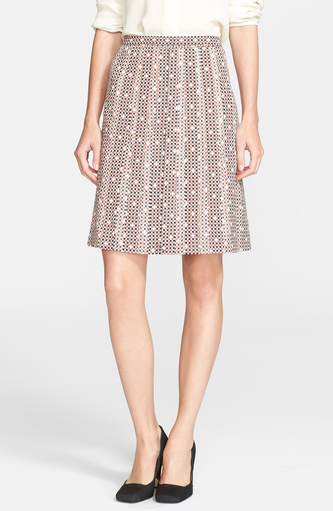 Main Image - Tory Burch 'Floria' Print Stretch Silk Skirt