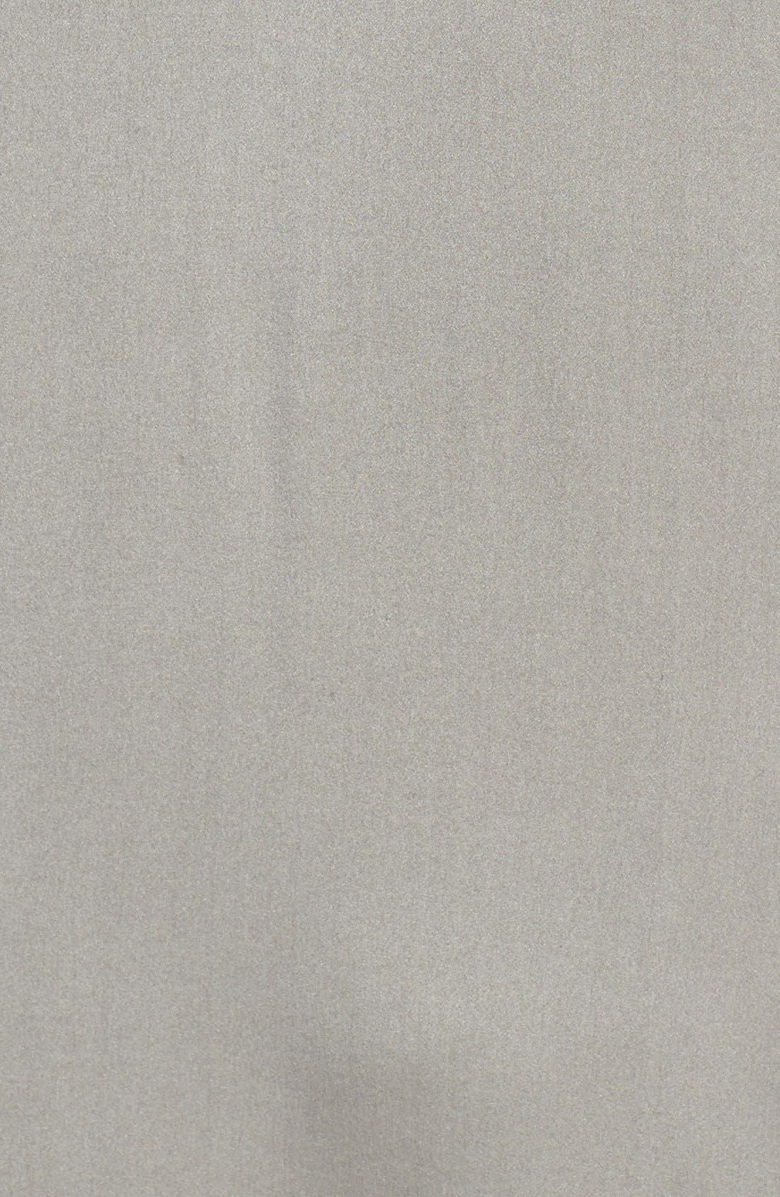 Alternate Image 3  - Eileen Fisher Washed Silk Charmeuse Mandarin Collar V-Neck Shift Dress (Plus Size)