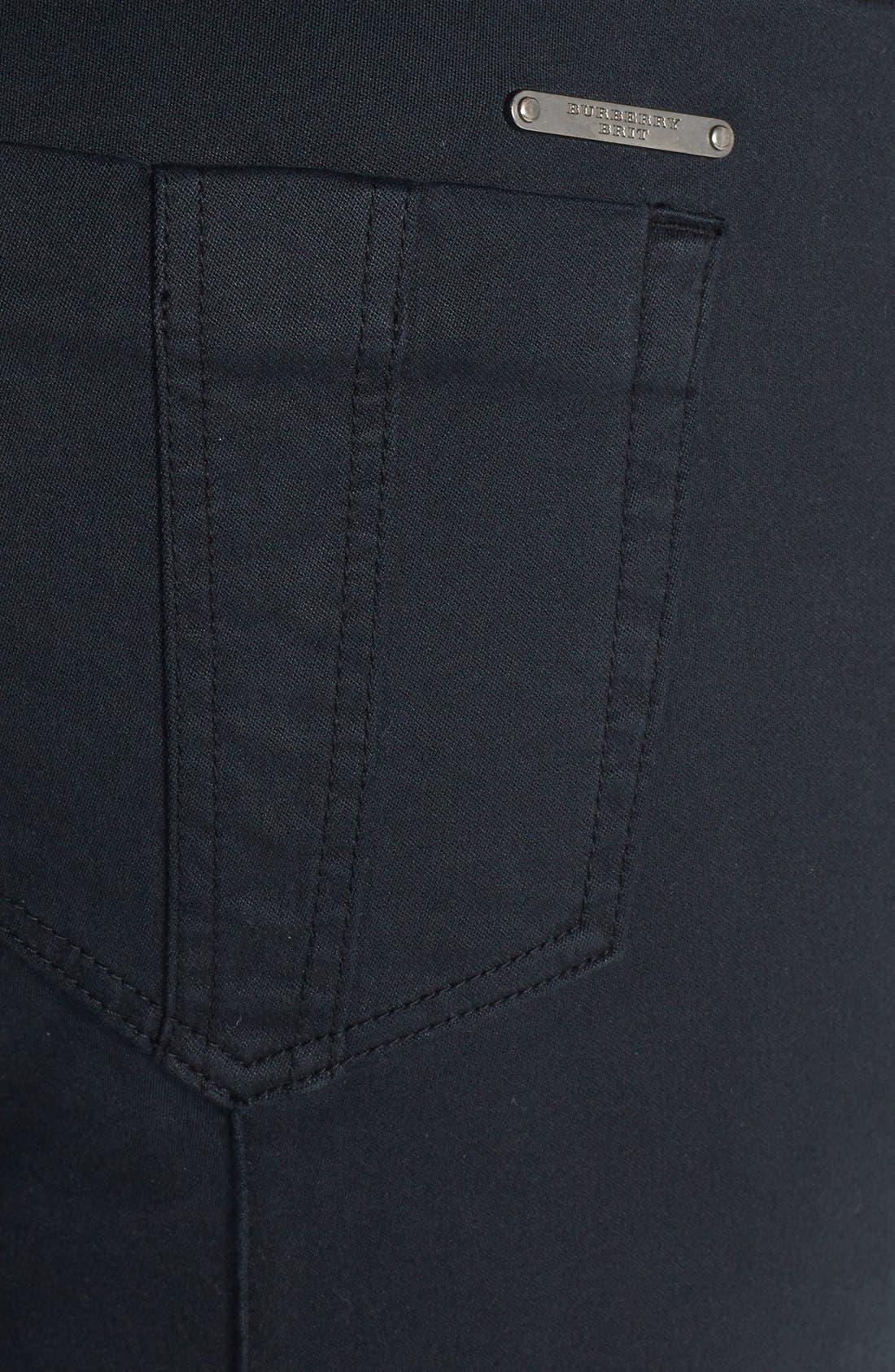 Alternate Image 3  - Burberry Brit 'Kemberton' Snap Ankle Stretch Cotton Skinny Pants