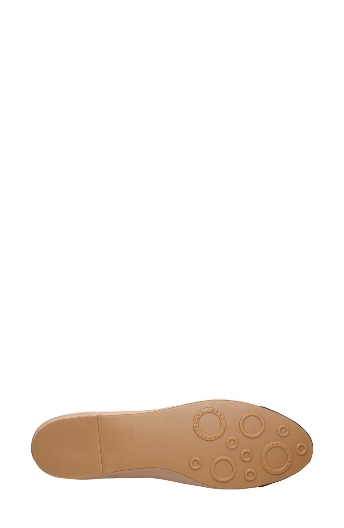 Alternate Image 3  - MARC BY MARC JACOBS Cap Toe Ballet Flat (Women)
