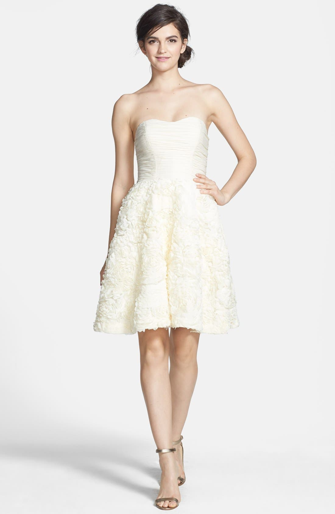 Alternate Image 4  - Ted Baker London 'Flawra' Rosette Detail Fit & Flare Dress