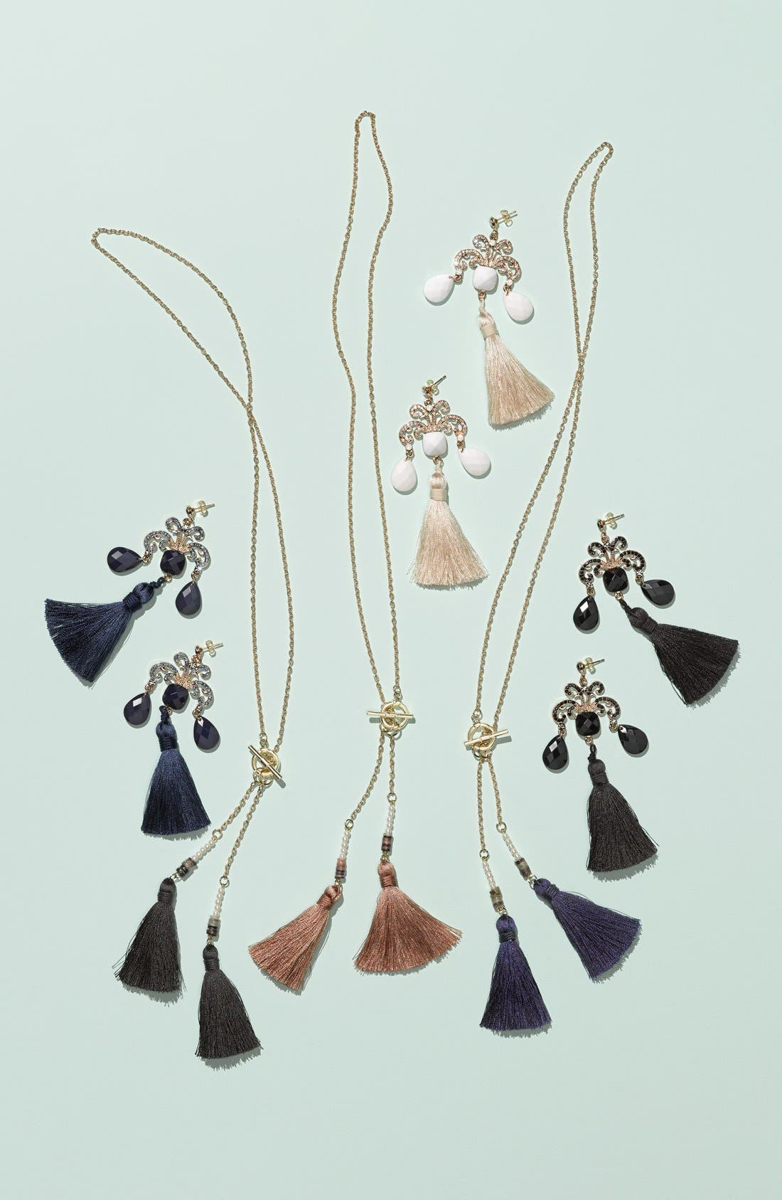 Alternate Image 2  - Tildon 'Double Tassel' Pendant Necklace